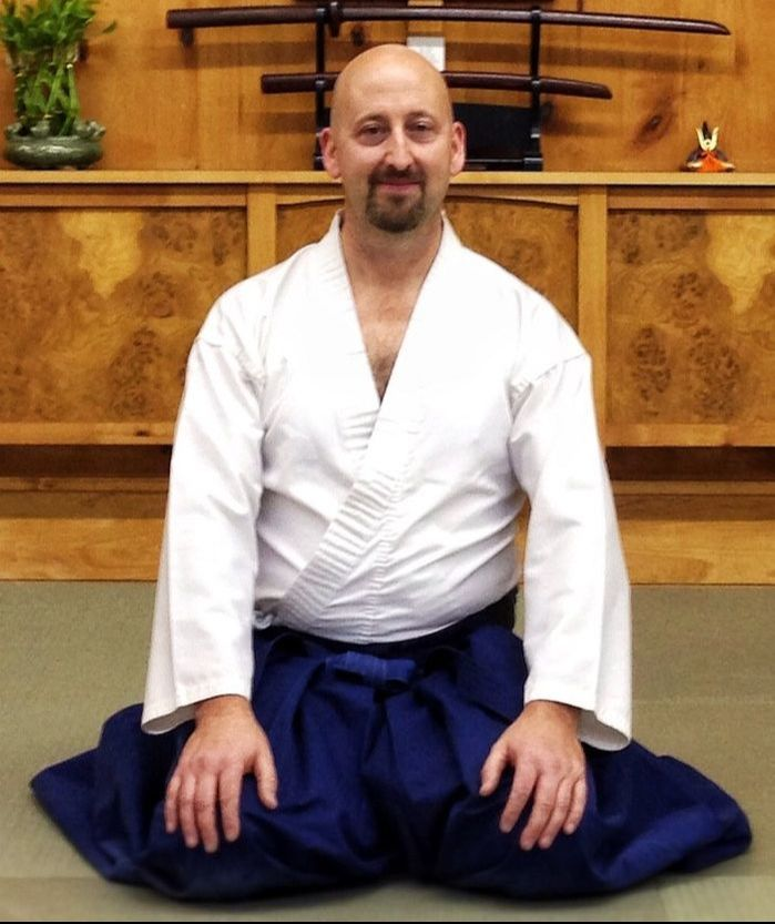 Dr. Rick Munn in his Aikido gear